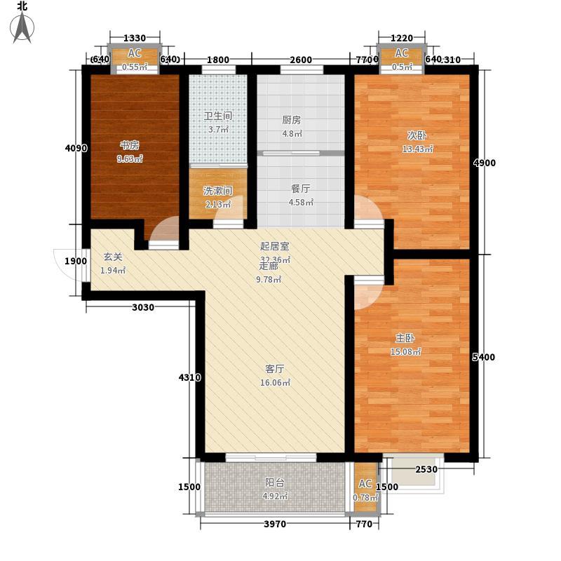 安泰诚品120.81㎡1号楼A6户型3室2厅