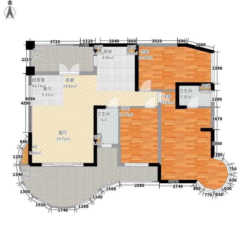 碧桂园十里银滩127.15㎡5号楼标准层C1户型
