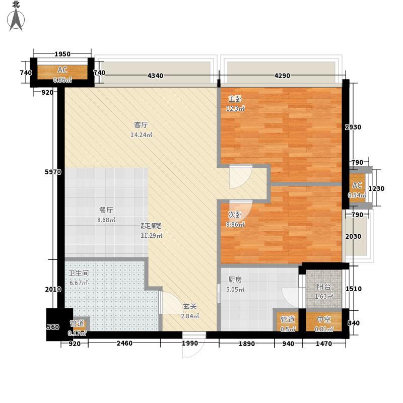 纵横国际公寓85.00㎡天伦之乐B户型