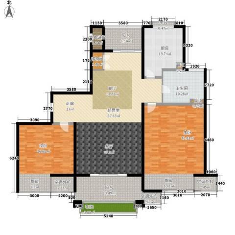 九城湖滨国际2室0厅1卫1厨198.00㎡户型图