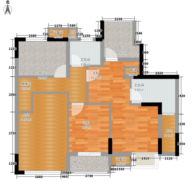康田紫悦府121.48㎡一期洋房A1二层户型