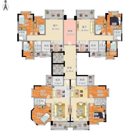 奥米茄花园9室4厅6卫4厨347.00㎡户型图