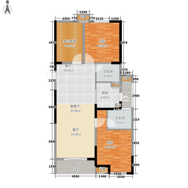 城置国际花园城123.78㎡三期13#楼P户型