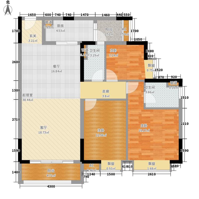 广州时代倾城115.00㎡——A户型3室2厅