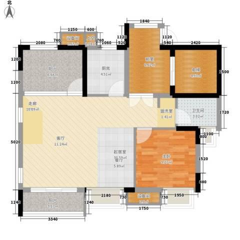 康田紫悦府1室0厅1卫1厨103.00㎡户型图
