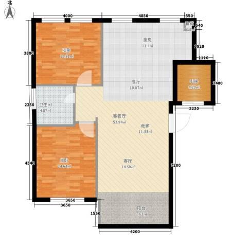 启明星座2室1厅1卫0厨98.00㎡户型图