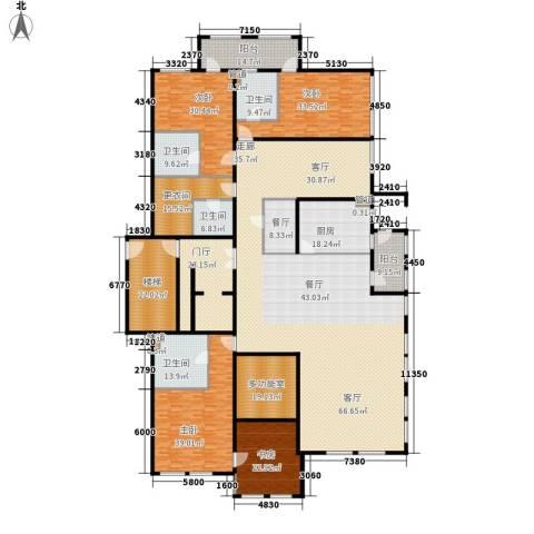 中粮祥云国际生活区4室1厅4卫1厨330.00㎡户型图