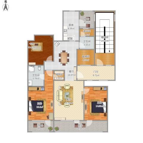 尚书里花园3室1厅2卫1厨211.00㎡户型图