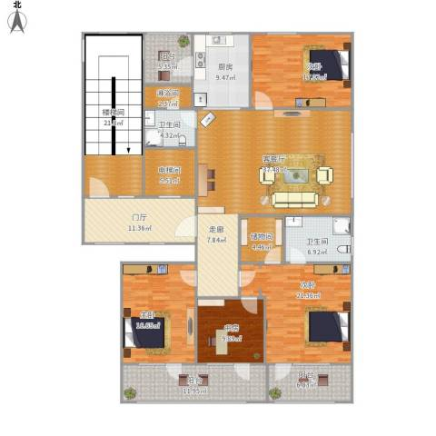 尚书里花园4室1厅2卫1厨268.00㎡户型图