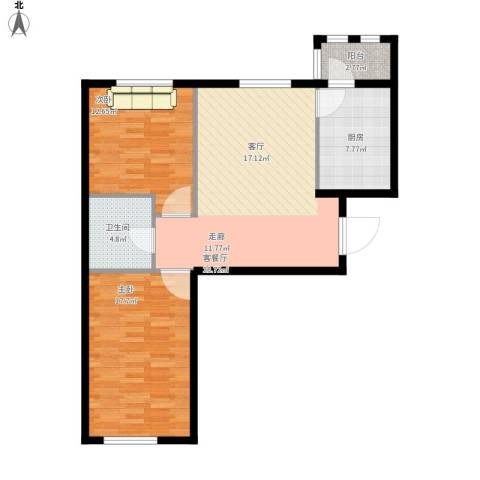 上庄・三嘉信苑2室1厅1卫1厨101.00㎡户型图