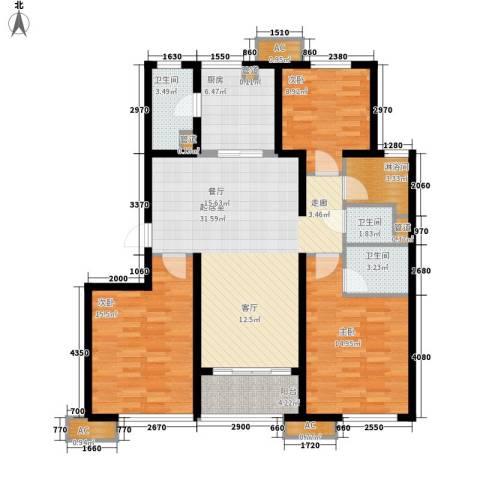 万科・金域东郡3室0厅3卫1厨110.00㎡户型图