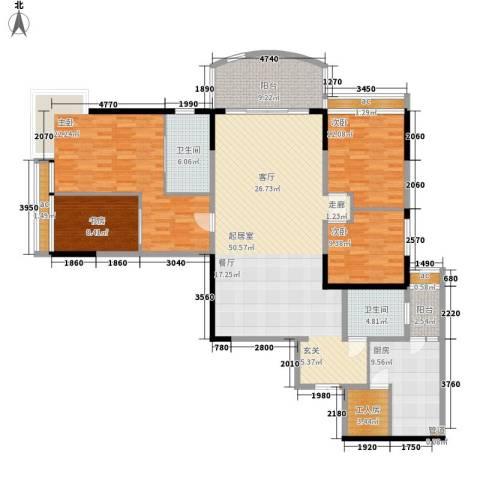 洲际半岛新城4室0厅2卫1厨164.00㎡户型图
