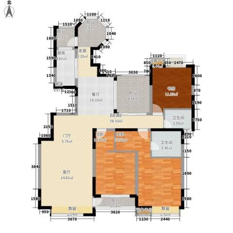 中海国际社区3室0厅2卫1厨155.00㎡户型图