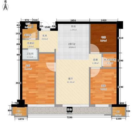 崇业路移动家属院3室0厅1卫0厨83.00㎡户型图