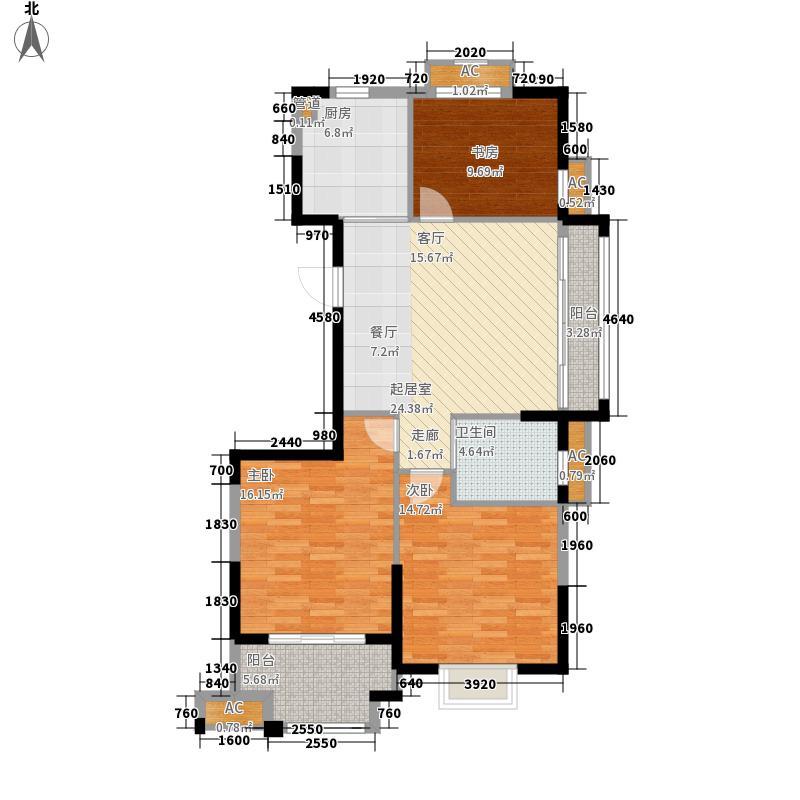 金色珑庭100.00㎡G户型3室2厅