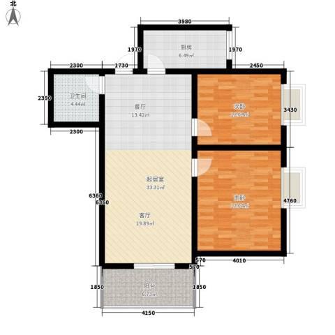 崇业路移动家属院2室0厅1卫1厨113.00㎡户型图