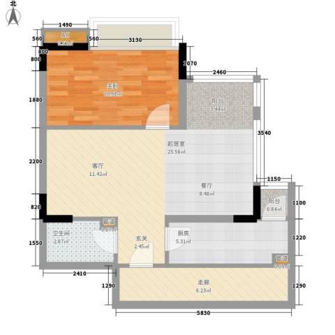 樱花丽舍1室0厅1卫1厨60.00㎡户型图