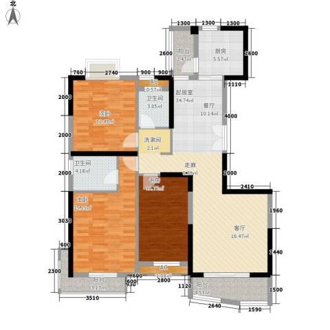 樱花丽舍3室0厅2卫1厨99.27㎡户型图