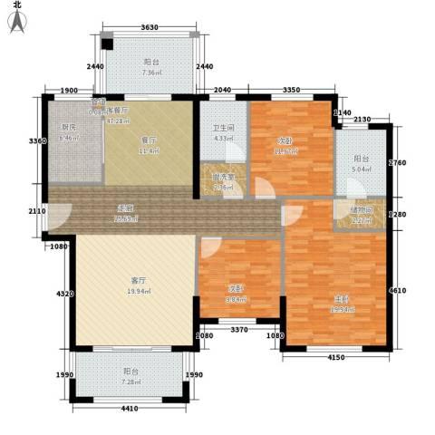 建业森林半岛3室1厅1卫1厨138.00㎡户型图