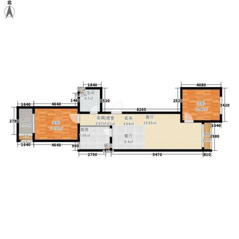 怡情雅居・相和园2室0厅1卫1厨91.00㎡户型图