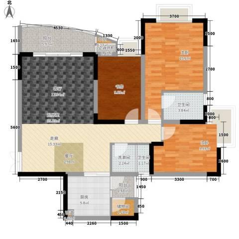 阳光汇3室0厅2卫1厨93.30㎡户型图