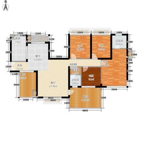 金龙国际花园4室0厅2卫1厨187.00㎡户型图