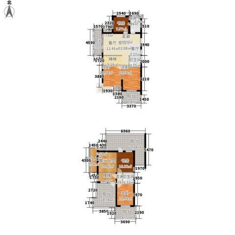 恒鑫文锦苑5室1厅2卫1厨178.71㎡户型图