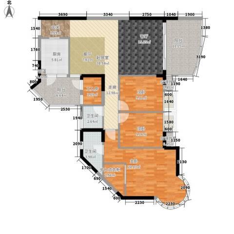 阳光汇3室0厅2卫1厨127.00㎡户型图