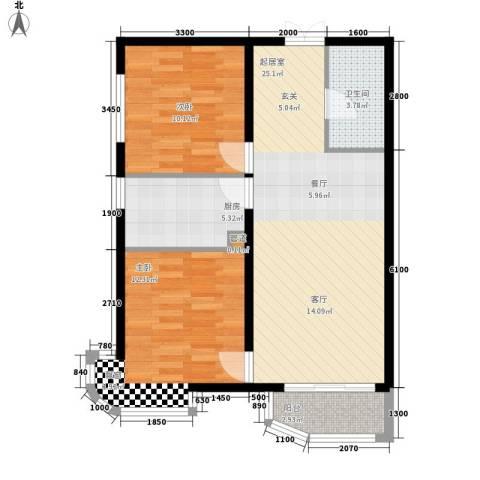 天洋城4代2室0厅1卫1厨85.00㎡户型图
