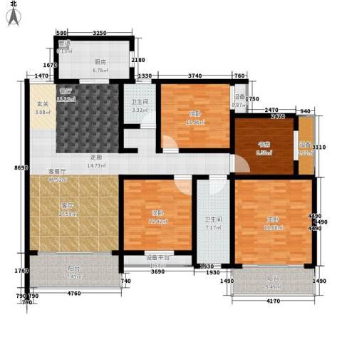 长房天翼未来城4室1厅2卫1厨149.91㎡户型图