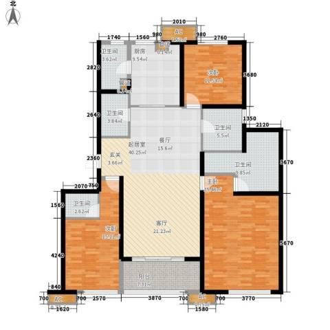 万科・金域东郡3室0厅5卫1厨152.00㎡户型图