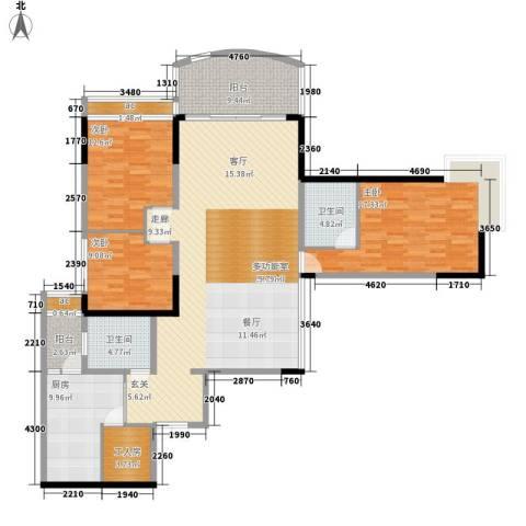 洲际半岛新城3室0厅2卫1厨146.00㎡户型图
