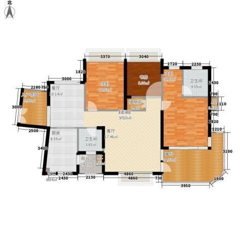 金龙国际花园3室0厅2卫1厨167.00㎡户型图