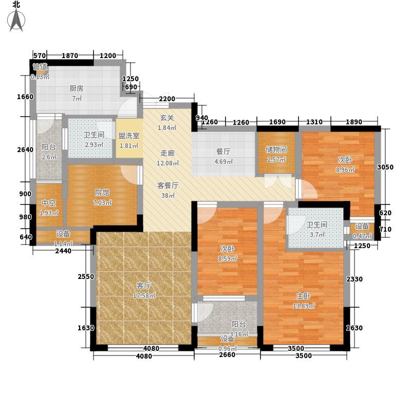 财信城市国际111.90㎡一期3号楼7面积11190m户型