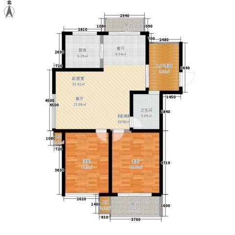 嘉馨苑2室0厅1卫1厨100.00㎡户型图