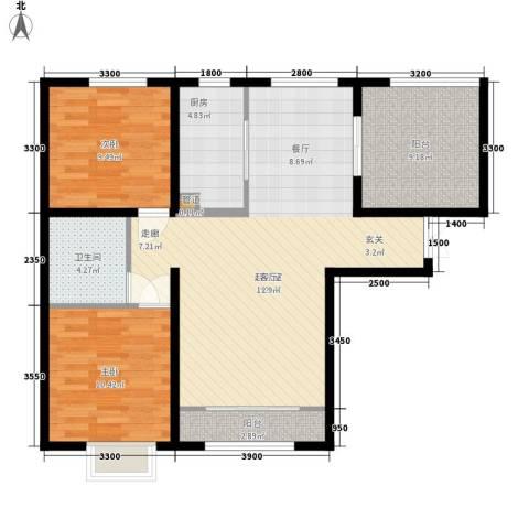 天洋城4代2室0厅1卫1厨94.00㎡户型图