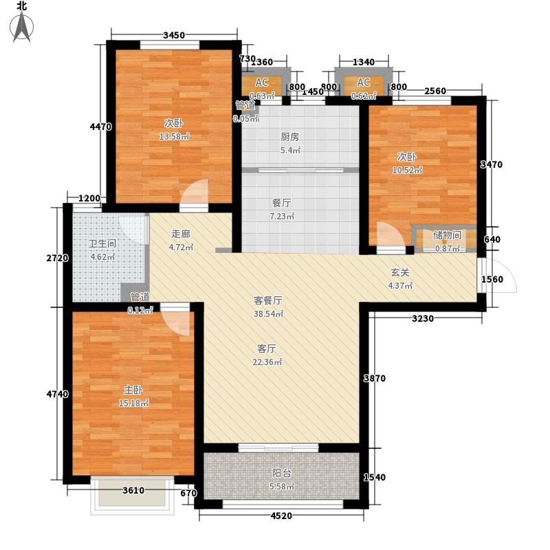 盛紫中央公园112.50㎡6#7#楼D户型3室2厅