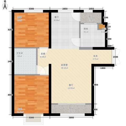 天洋城4代2室0厅1卫1厨93.00㎡户型图
