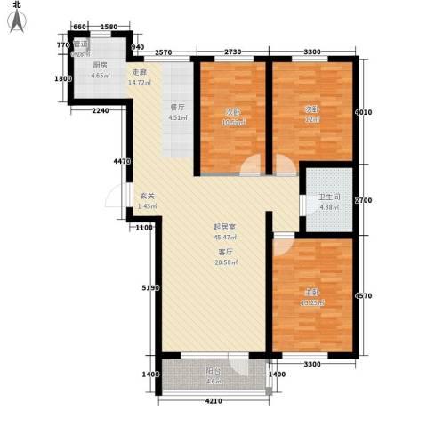 华誉・金御蓝湾3室0厅1卫0厨117.00㎡户型图