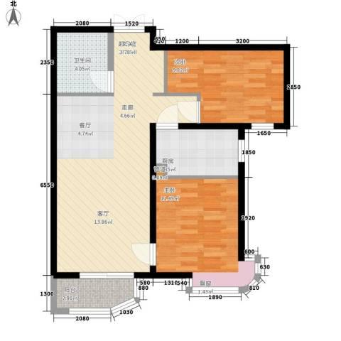天洋城4代2室0厅1卫1厨87.00㎡户型图