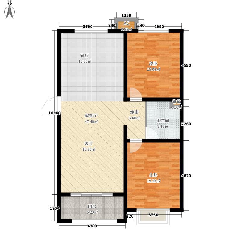 盛紫中央公园97.09㎡3#4#5#楼C户型2室2厅
