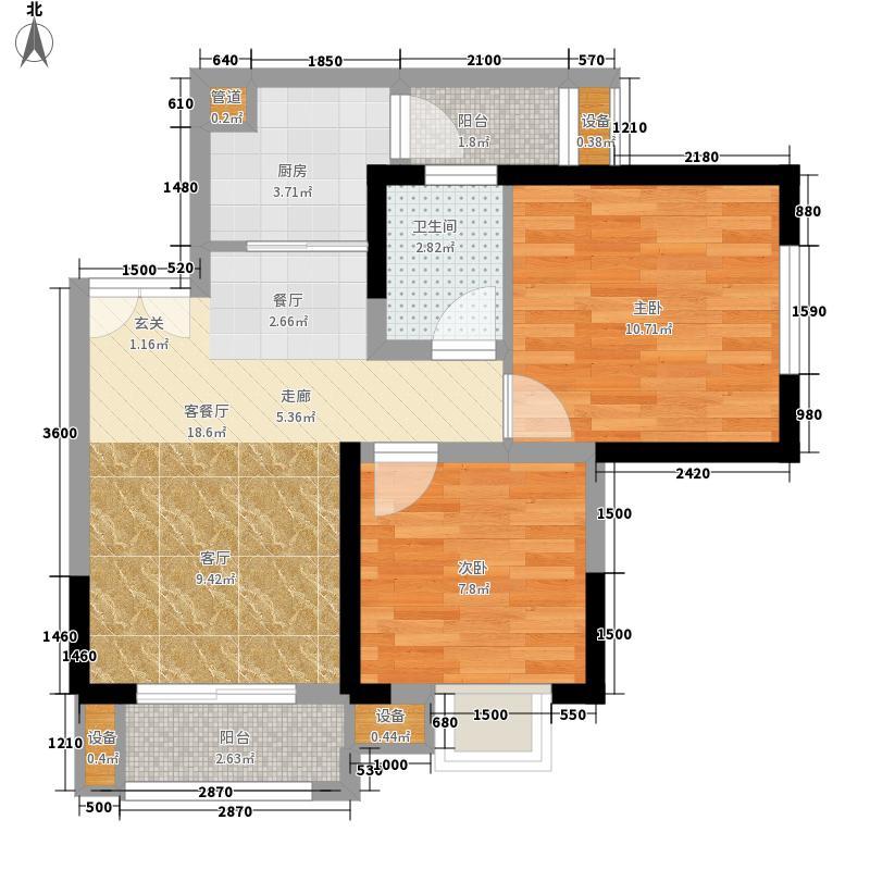 财信城市国际53.81㎡二期8号楼标面积5381m户型