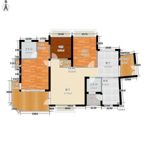 金龙国际花园3室0厅2卫1厨165.00㎡户型图