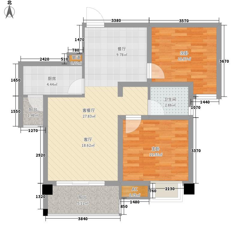 润扬书院阁81.61㎡A1(a)型2面积8161m户型