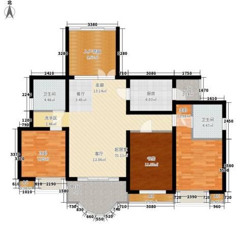 青竹湖畔3室0厅2卫1厨131.00㎡户型图