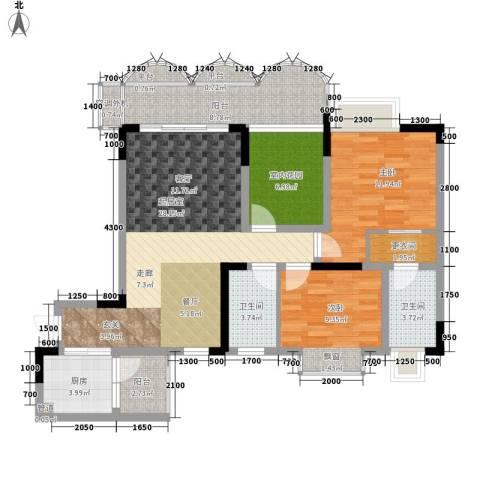 阳光汇2室0厅2卫1厨83.60㎡户型图