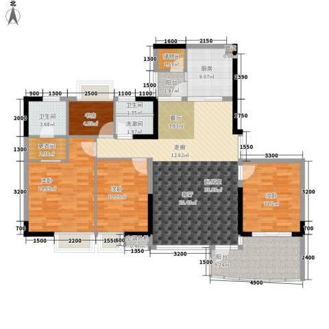 阳光汇4室0厅2卫1厨106.37㎡户型图