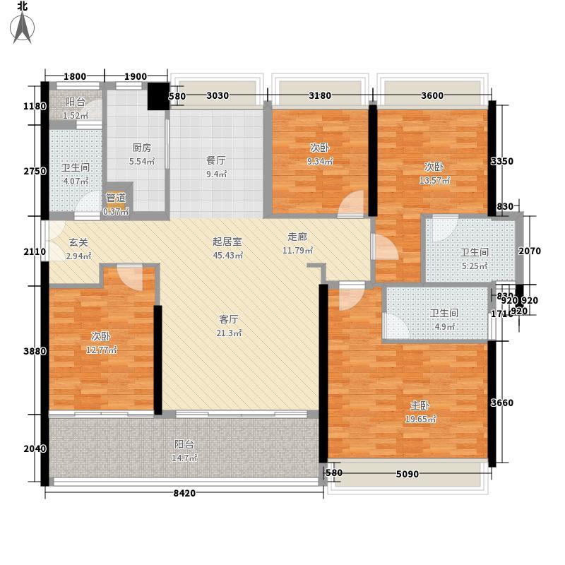 博林天瑞157.00㎡2栋A1户型4室2厅