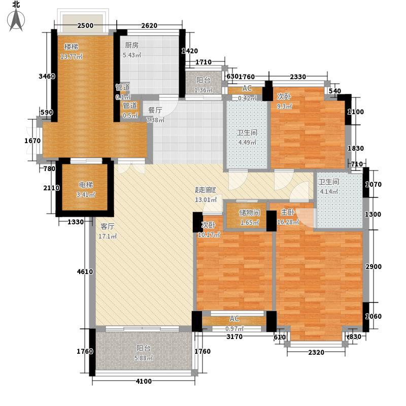 天台中央花园133.00㎡户型