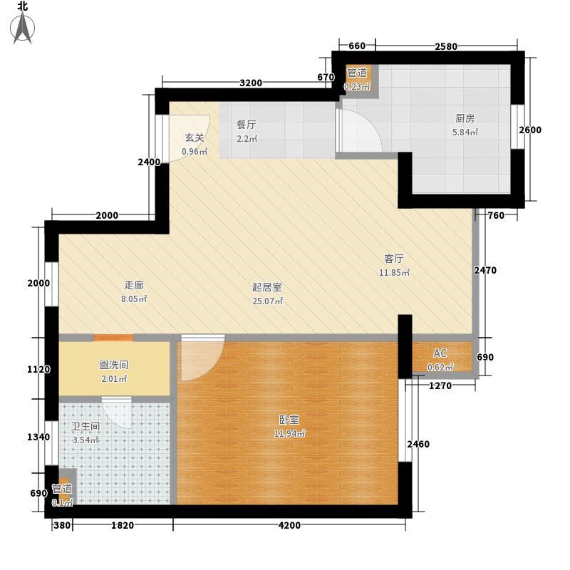 幸福家园65.84㎡10号楼031面积6584m户型
